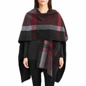Ike Behar Plaid Fleece Wrap- thick!